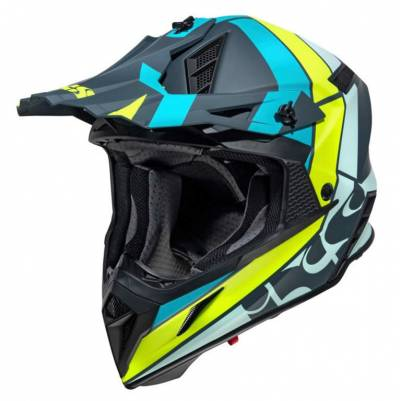 iXS Crosshelm 189 2.0, blau-lime matt