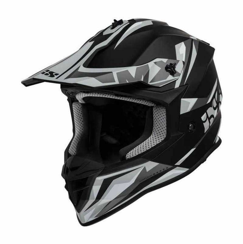 iXS Crosshelm 362 2.0, schwarz-grau matt