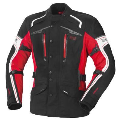 iXS Damen Jacke Montgomery GTX, schwarz-rot-weiß