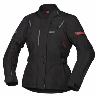 iXS Damen Jacke Tour Liz-ST, schwarz-rot