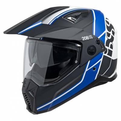 iXS Endurohelm 208 2.0, schwarz-weiß-blau matt