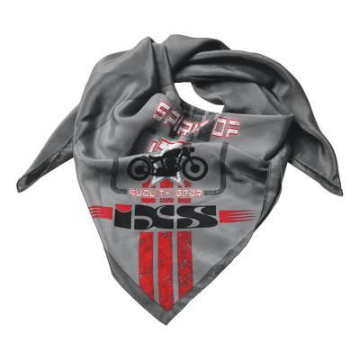 iXS Halstuch Bonny, grau-rot-schwarz