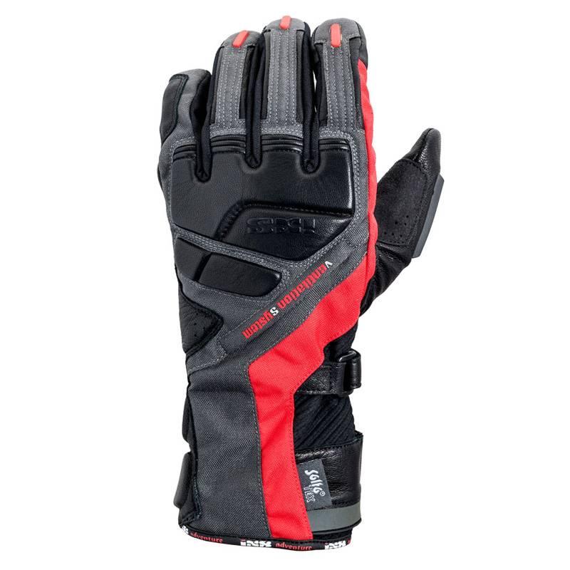 iXS Handschuhe Adventure, rot grau schwarz