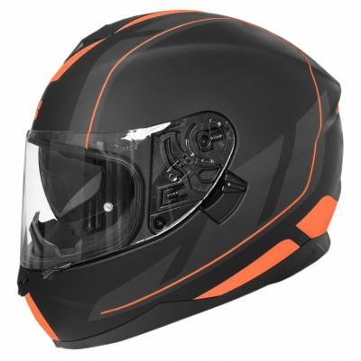 iXS Helm 1100 2.0, schwarz-orange matt