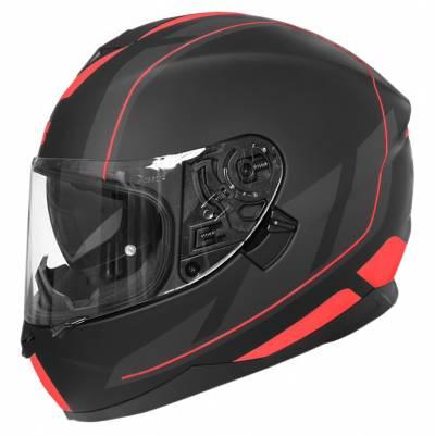 iXS Helm 1100 2.0, schwarz-rot matt