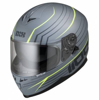 iXS Helm 1100 2.1, grau-fluogelb matt