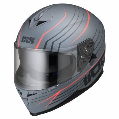 iXS Helm 1100 2.1, grau-rot matt