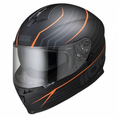 iXS Helm 1100 2.1, schwarz-orange matt