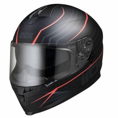 iXS Helm 1100 2.1, schwarz-rot matt