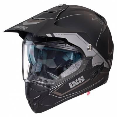 iXS Helm 207 2.0, schwarz-grau matt