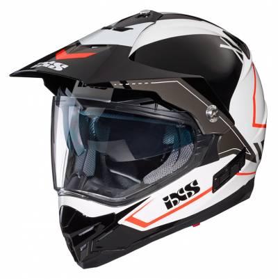 iXS Helm 207 2.0, weiß-schwarz-rot