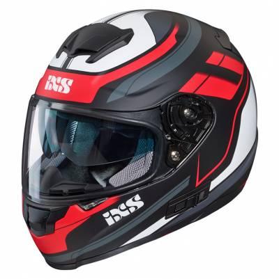 iXS Helm 215 2.0, schwarz-rot-weiß matt