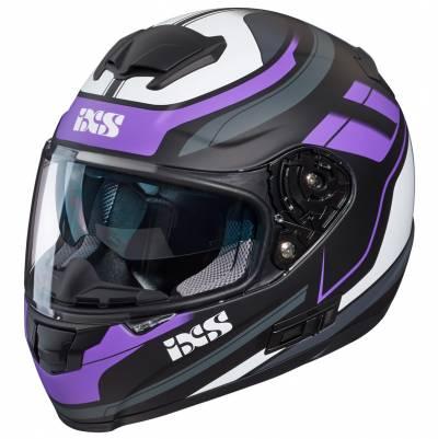 iXS Helm 215 2.0, schwarz-violett-weiß matt