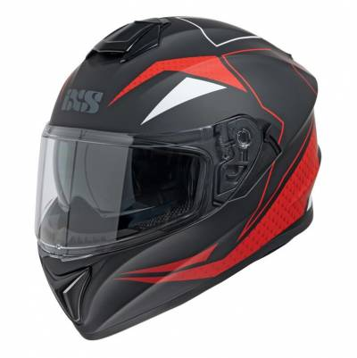 iXS Helm 216 2.0, schwarz-rot matt