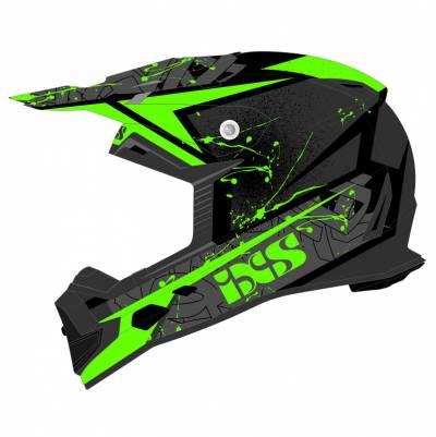 iXS Helm 361 2.0, schwarz-grün matt