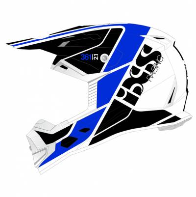 iXS Helm 361 2.1, weiß-blau matt