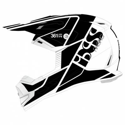 iXS Helm 361 2.1, weiß-schwarz matt