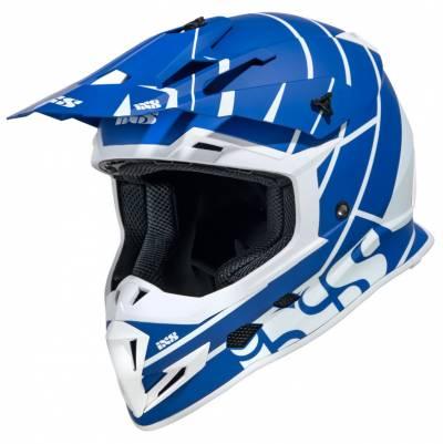 iXS Helm 361 2.2, matt blau-weiss