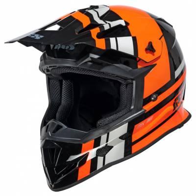 iXS Helm 361 2.3, schwarz-orange-grau