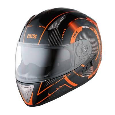iXS Helm HX 1000 Tron, schwarz-orange-grau