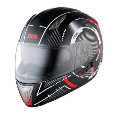iXS Helm HX 1000 Tron, schwarz-rot-grau