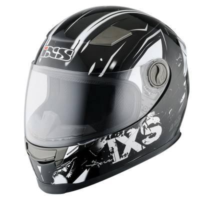 iXS Helm HX 135 Funky, schwarz-grau-weiß