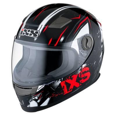 iXS Helm HX 135 Funky, schwarz-rot-weiß