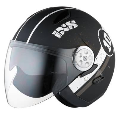 iXS Helm HX 137 Luna, schwarz-weiß-matt