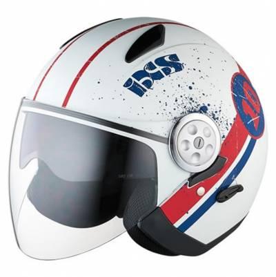 iXS Helm HX 137 Luna, weiß-rot-matt