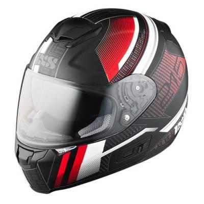 iXS Helm HX 215 Pixel, schwarz-rot matt