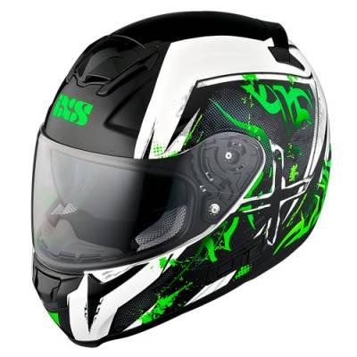 iXS Helm HX 215 Saphir, schwarz-weiß-gruen