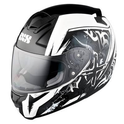 iXS Helm HX 215 Saphir, schwarz-weiß-silber