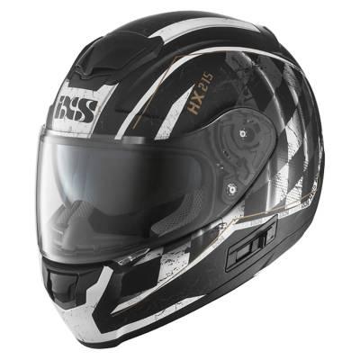 iXS Helm HX 215 Speed Race, schwarz-weiß-matt