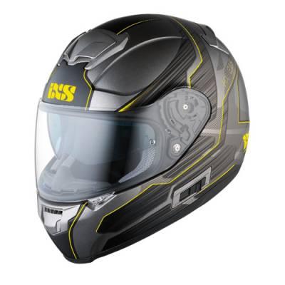 iXS Helm HX 215 Techno, silber-gelb-matt
