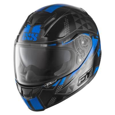 iXS Helm HX 215 Triangle, schwarz-blau-grau
