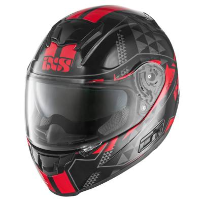 iXS Helm HX 215 Triangle, schwarz-rot-grau