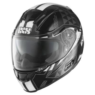 iXS Helm HX 215 Triangle, schwarz-weiß-silber