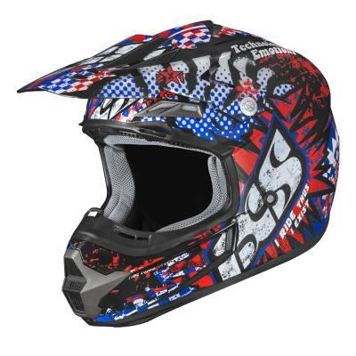 iXS Helm HX 261 Emotions, schwarz-rot-blau