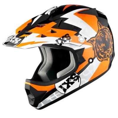 iXS Helm HX 278 Tiger Kids, schwarz-orange-weiß