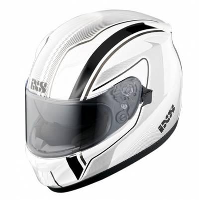 iXS Helm HX 420 Easy, weiß-schwarz-grau