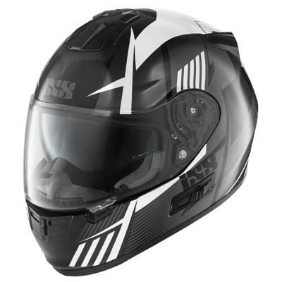 iXS Helm HX 444 Angle, schwarz-weiß-silber