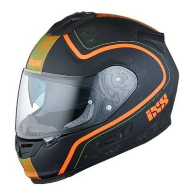 iXS Helm HX 444 Classic, schwarz-orange matt