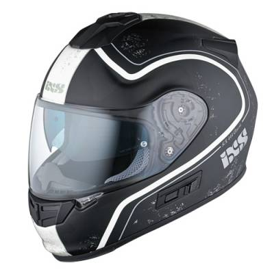 iXS Helm HX 444 Classic, schwarz-silber matt