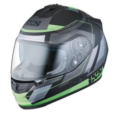 iXS Helm HX 444 Edge, schwarz-grün matt