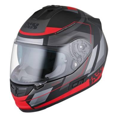 iXS Helm HX 444 Edge, schwarz-rot matt