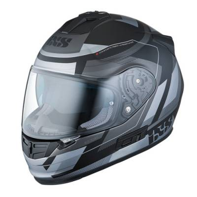 iXS Helm HX 444 Edge, schwarz-silber matt