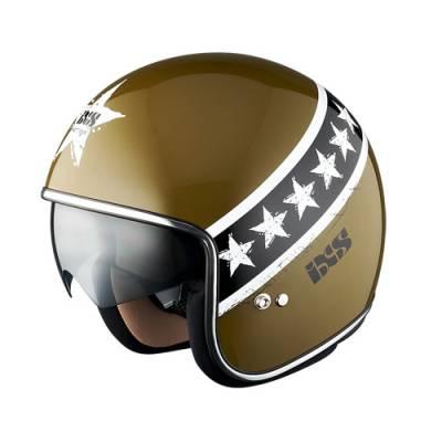 iXS Helm HX 77 Start, oliv-schwarz-weiß