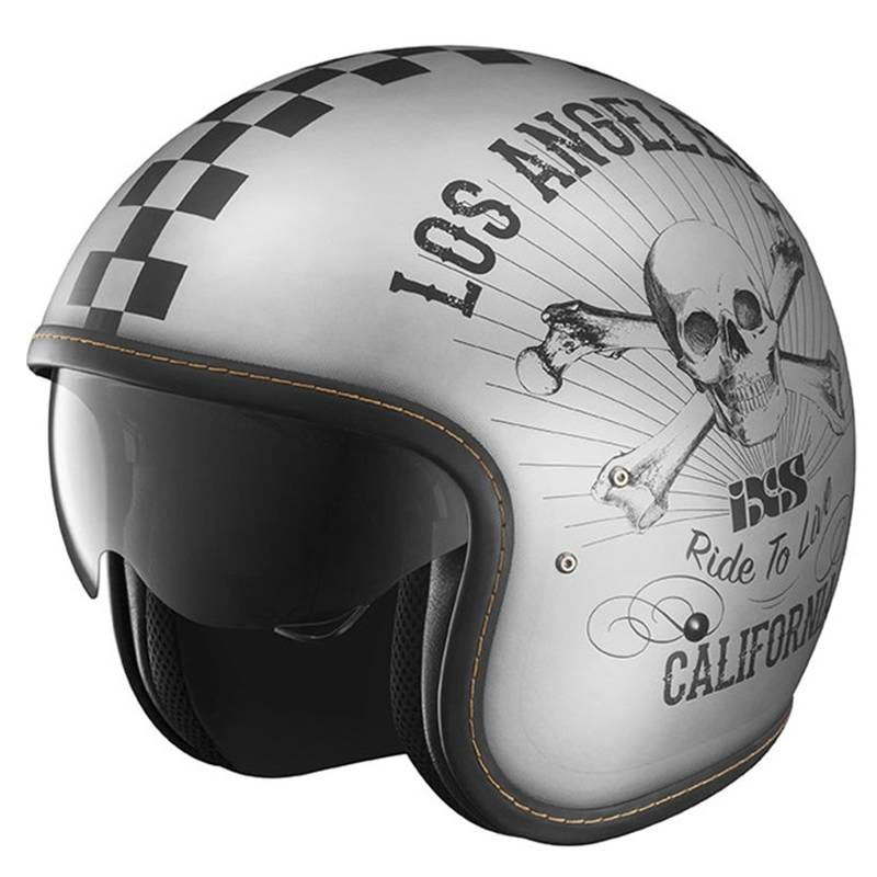 iXS Helm HX 78 California, silber-schwarz-matt