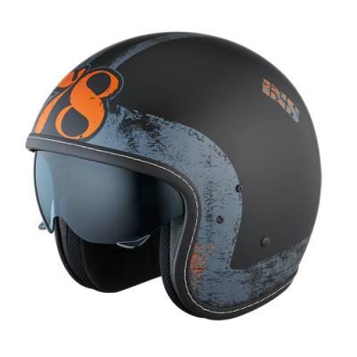 iXS Helm HX 78 Easy, schwarz-silber-matt
