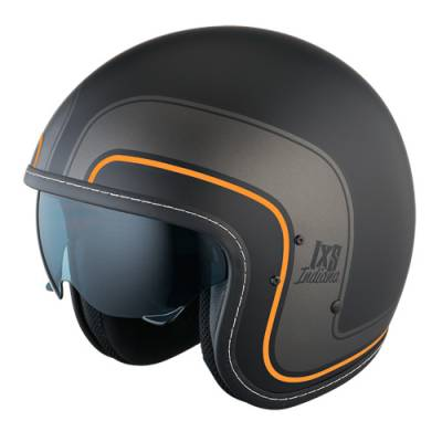 iXS Helm HX 78, schwarz-orange matt